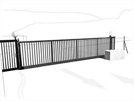 portail coulissant professionnel pour Colas à Carros par MS06 metallier ferronnier Nice