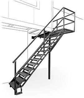 escalier de service, garde corps, plateforme par Metallier Nice MS06 à Saint Jeannet