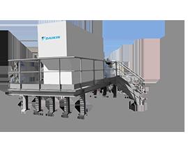 plateforme metallique pour support de climatisation - metalier nice ferronier nice